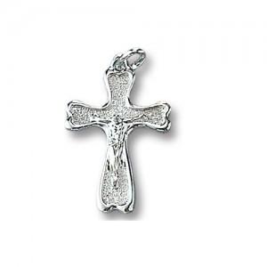 Croce in argento rodiato