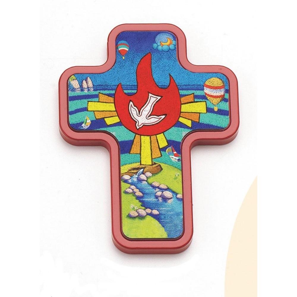 Croce in legno con immagine Calisti