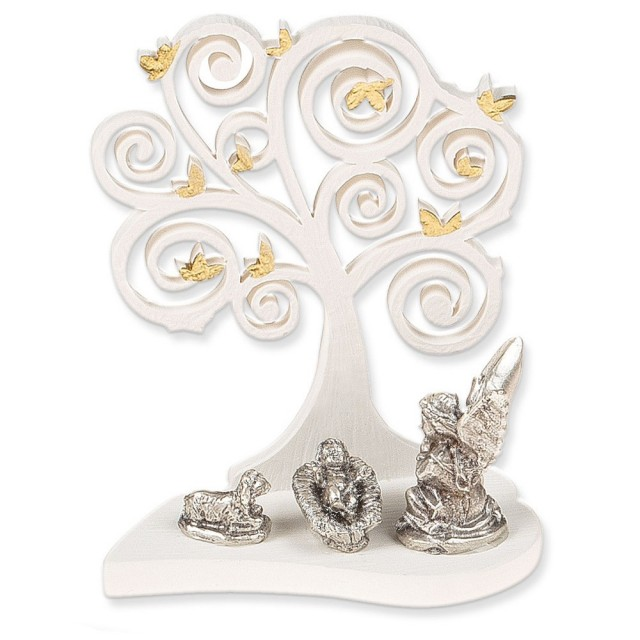 Gold Leaf Resin Tree with Angel