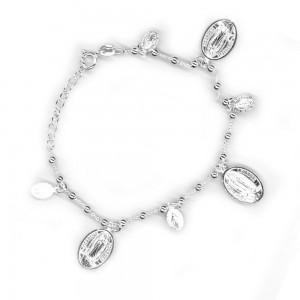 Lourdes silver bracelet