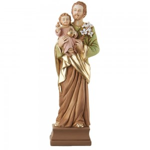 Statua in resina colorata San Giuseppe