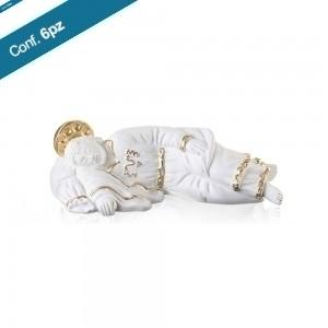 Statua in resina bianca San Giuseppe Dormiente