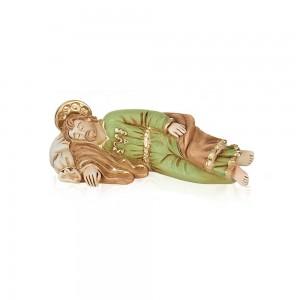 Statua in resina colorata di San Giuseppe Dormiente