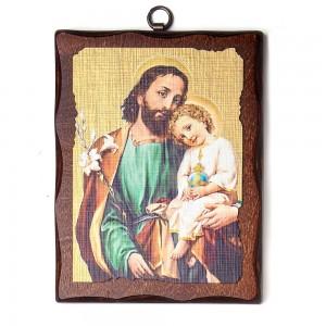 Wooden icon Saint Joseph 16x12