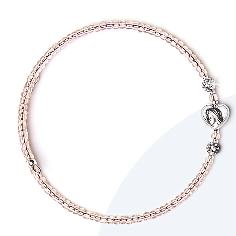 Adjustable glass bracelet