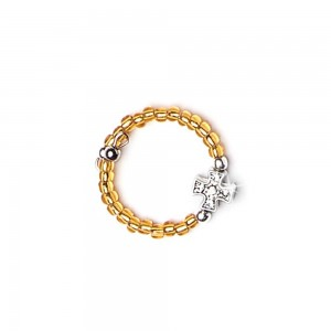 Adjustable glass ring with cross