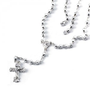 Rosary silver cube with closure