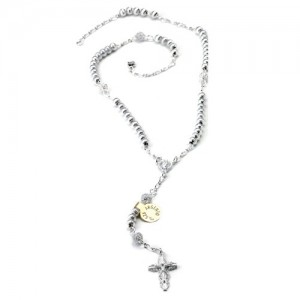 Rosary-necklace in silver with closure