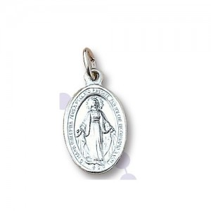 Miraculous Madonna medal in aluminum