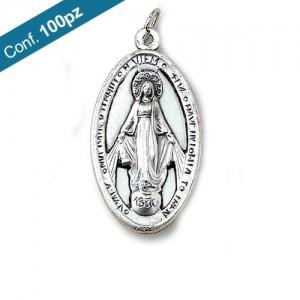Medaglia in metallo ossidato Madonna Miracolosa