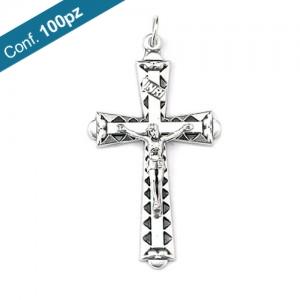 Croce in metallo ossidato in confezioni da 100 pezzi