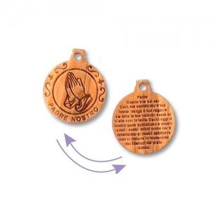 Father Nostro round olive pendant