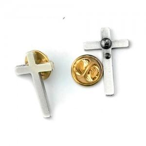 Clergy cross flat oxidized metal
