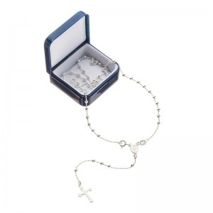 Rosary necklace 925 silver 3 mm beads