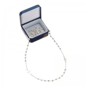 Small rosary in 925 silver, D & G line
