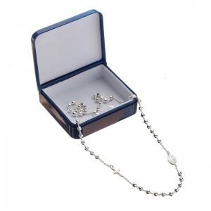 Medium rosary in 925 silver, D & G line