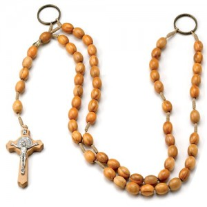 Oval cingulate rosary bound in olive wood