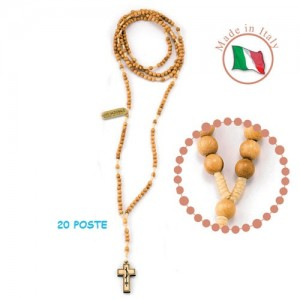 Rosary bound in wood olive 20 poses