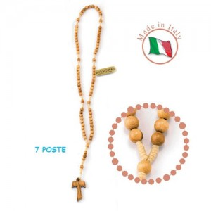 Rosary in smooth round olive wood