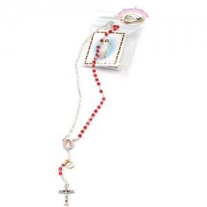 Merciful Jesus crystal rosary
